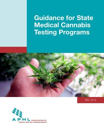 Guidance for State Medical Cannabis Testing Programs