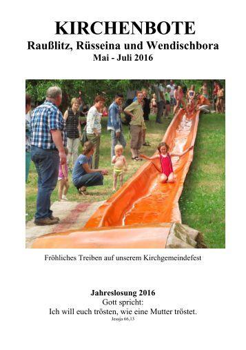 Kirchenbote 2016 Mai - Juli