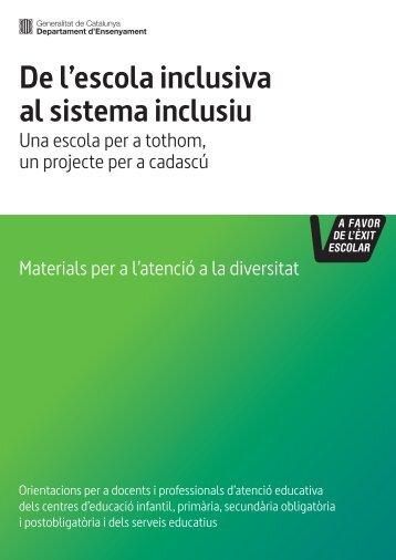 De l'escola inclusiva al sistema inclusiu