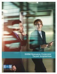 SHRM Research Overview Talent Acquisition