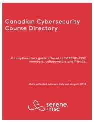 Canadian Cybersecurity Course Directory