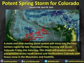 Potent Spring Storm for Colorado