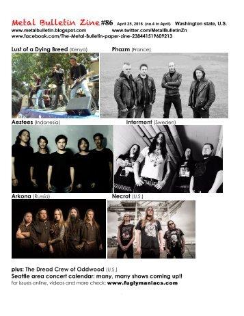 Metal Bulletin Zine #86