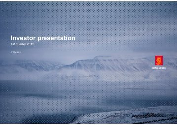 Q1 2012 - Kongsberg Maritime - Kongsberg Gruppen