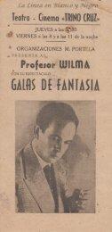 Profesor Wilma - Galas de Fantasia