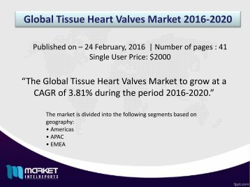 Strategic Analysis on Global Tissue Heart Valves Market Forecast to 2020