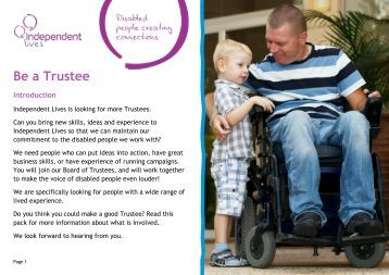 Be a Trustee