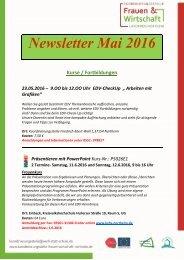 Newsletter Mai 2016