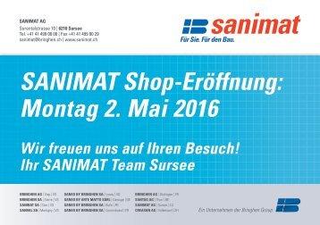 Shop Eröffnung der SANIMAT AG in Sursee!
