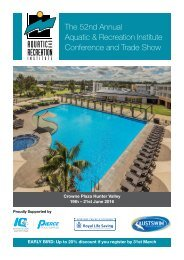 The 52nd Annual Aquatic & Recreation Institute Conference and Trade Show