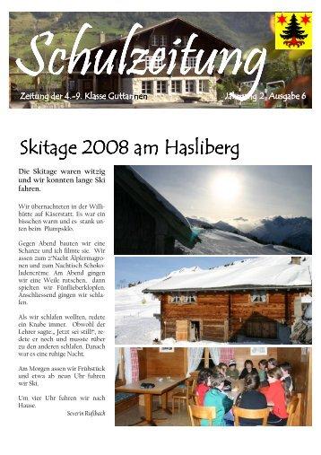 Schulzeitung 6-2008 - Guttannen - Kibs.ch