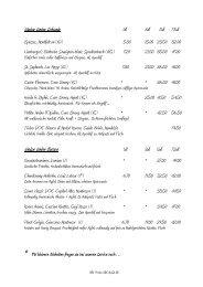 Weisse Weine Schweiz Weisse Weine Europa - Restaurant ...