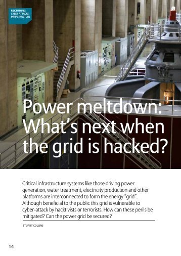 Power meltdown What's next when the grid is hacked?