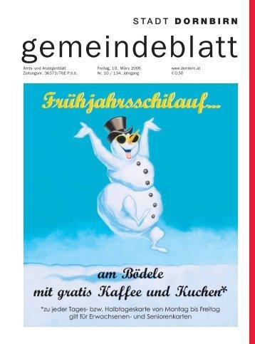 Gemeindeblatt Nr. 10 vom 10. M