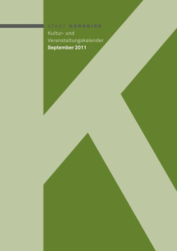 Kultur- und Veranstaltungskalender September 2011