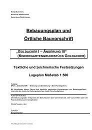"""Bebauungsplan und Örtliche Bauvorschrift """"GOLDACKER I ..."""