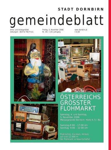 Gemeindeblatt Nr.44 vom 03. November 2006