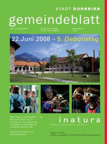 22.juni 2008 -; 5. Geburtstag