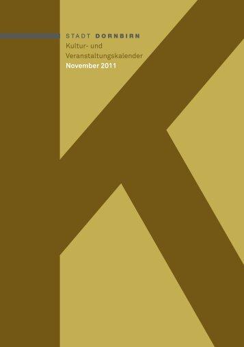 Kultur- und Veranstaltungskalender November 2011