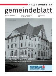 Dornbirner Sparkasse: 145 Jahre in der Region. 100 Jahre am ...