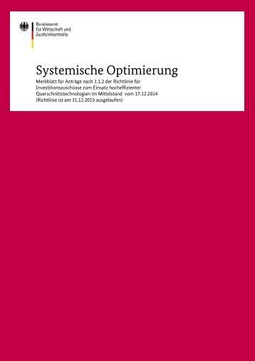 Systemische Optimierung