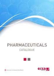 ECSA Chemicals - Pharmaceuticals Catalogue