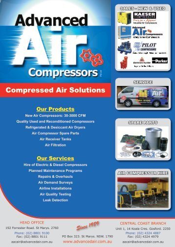 Compressed Air Solutions - Advanced Air Compressors