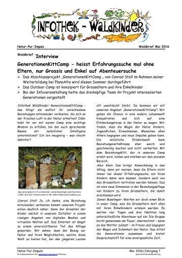 Infothek Waldkinder - Interview mit dem Team vom GenerationenKittCamp