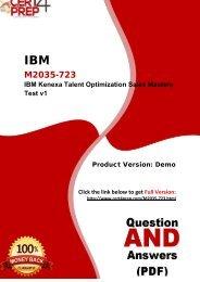 Cert4Prep M2035-723 Exam Preparation Material