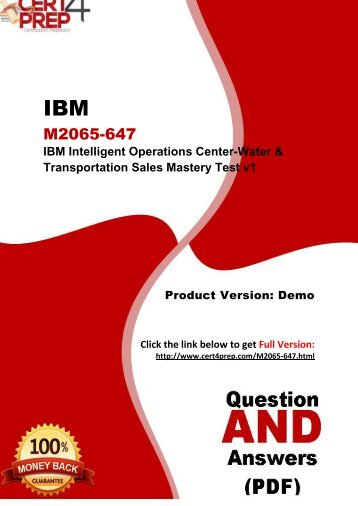 Cert4Prep M2065-647 Exam Preparation Material