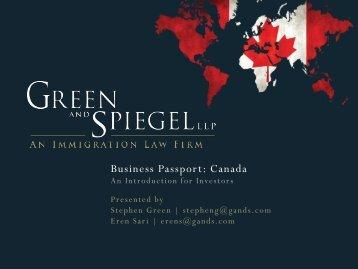 Business Passport Presentation