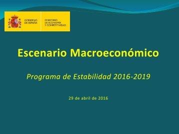 Escenario Macroeconómico