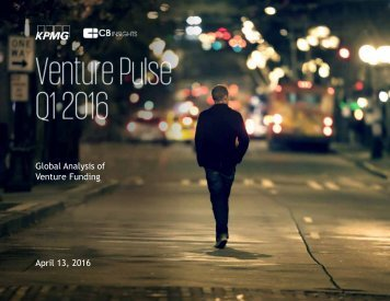 Global Analysis of Venture Funding April 13 2016