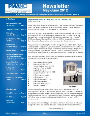 PMANC Newsletter May June 2012 PMANC Newsletter Template