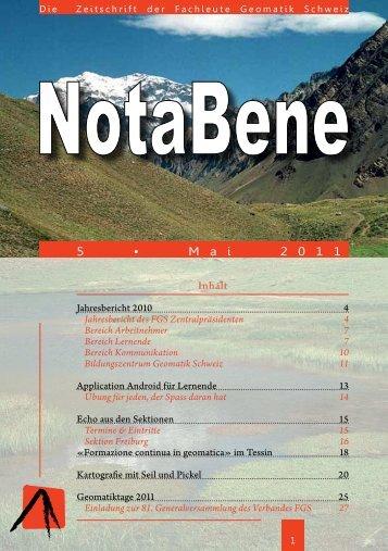 Jahresbericht 2010 - Fachleute Geomatik Schweiz