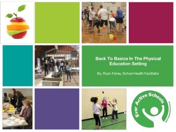 Back To Basics In The Physical Education Setting