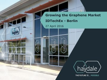 Growing the Graphene Market IDTechEx - Berlin
