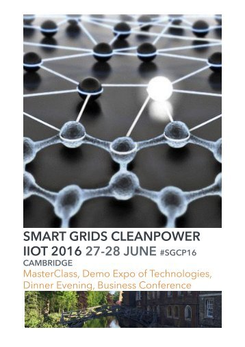 SMART GRIDS CLEANPOWER IIOT 2016 27-28 JUNE