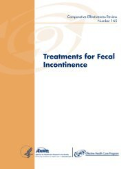 Treatments for Fecal Incontinence