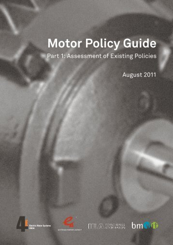 Motor Policy Guide: Part 1 - Electric Motor Systems Annex