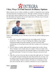 5 Key Ways To Find Success In Binary Options