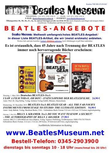 Beatles Museum - Katalog 62 mit Hyperlinks