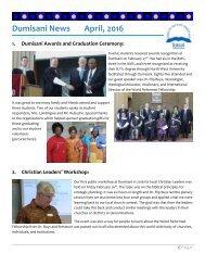 Dumisani News April 2016