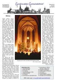 Greifswalder Gemeindebrief: Dezember 2011/Januar 2012 (1,5