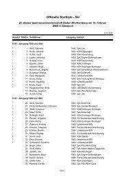 Offizielle Startliste - 32. Alpine Sparkassenmeisterschaft Baden ...