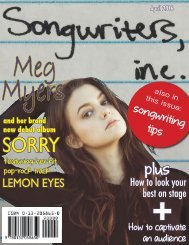 songwriters,inc. magazine