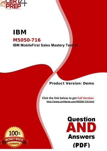 Cert4Prep M5050-716 Test Questions And Brain Dumps