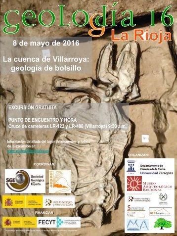 8 de mayo de 2016 La cuenca de Villarroya geología de bolsillo