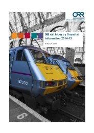 GB rail industry financial information 2014-15