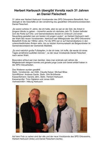 Neuer SPD Vorsitzender im Ortsverein Beiseförth